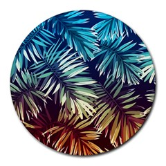 Tropic Leaves Round Mousepads by goljakoff
