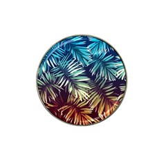 Tropic Leaves Hat Clip Ball Marker (4 Pack) by goljakoff