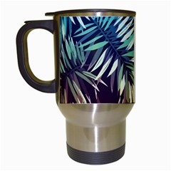 Tropic Leaves Travel Mugs (white) by goljakoff