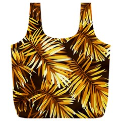 Golden Leaves Full Print Recycle Bag (xxxl) by goljakoff