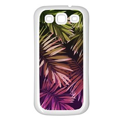 Purple Leaves Samsung Galaxy S3 Back Case (white)
