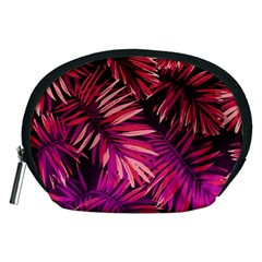 Pink Leaves Accessory Pouch (medium)