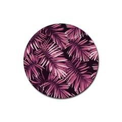 Rose Leaves Rubber Round Coaster (4 Pack)