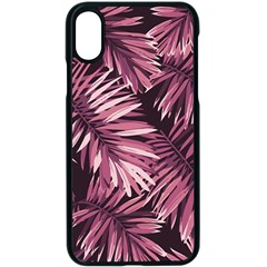 Rose Leaves Iphone Xs Seamless Case (black)