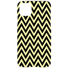 Chevron Style Collection - Banana Yellow & Black Iphone 11 Pro Max Black Uv Print Case