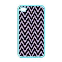 Chevron Style Collection - Crocus Petal Purple & Black Iphone 4 Case (color)