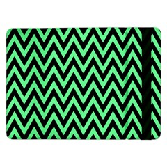Chevron Style Collection - Dragon Green & Black Samsung Galaxy Tab Pro 12 2  Flip Case by FEMCreations