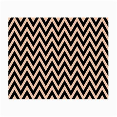 Chevron Style Collection - Soft Apricot Orange & Black Small Glasses Cloth (2 Sides)