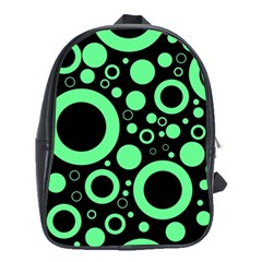 Circle Party Collection - Dragon Green & Black School Bag (large)