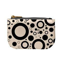 Circle Party Collection - Antique White & Black Mini Coin Purse
