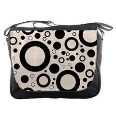 Circle Party Collection - Antique White & Black Messenger Bag