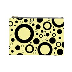 Circle Party Collection - Banana Yellow & Black Cosmetic Bag (large)