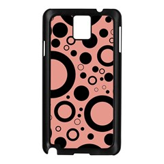 Circle Party Collection - Blooming Dahlia Red & Black Samsung Galaxy Note 3 N9005 Case (black)