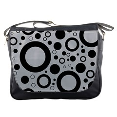 Circle Party Collection - Silver Sand Grey & Black Messenger Bag