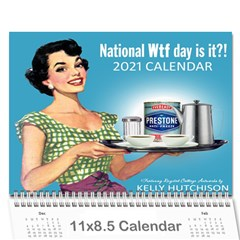 National Wt Day Is It?! Wall Calendar 11 X 8 5 (12-months)