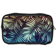 Tropical Leaves Toiletries Bag (one Side)