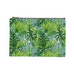 Green Leaves Cosmetic Bag (large) by goljakoff