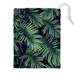 Green Palm Leaves Drawstring Pouch (2xl)