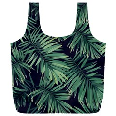 Green Palm Leaves Full Print Recycle Bag (xxxl)