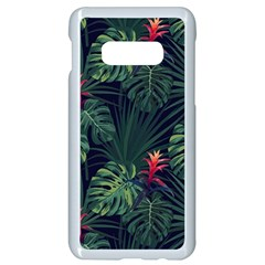 Tropical Flowers Samsung Galaxy S10e Seamless Case (white)