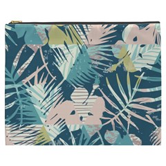 Abstract Flowers Cosmetic Bag (xxxl) by goljakoff