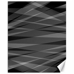 Abstract Geometric Pattern, Silver, Grey And Black Colors Canvas 16  X 20