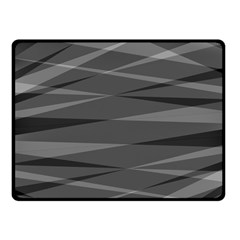 Abstract Geometric Pattern, Silver, Grey And Black Colors Fleece Blanket (small)