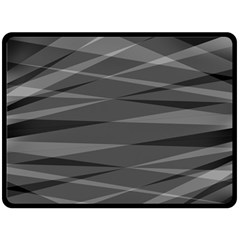 Abstract Geometric Pattern, Silver, Grey And Black Colors Double Sided Fleece Blanket (large)