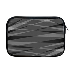 Abstract Geometric Pattern, Silver, Grey And Black Colors Apple Macbook Pro 17  Zipper Case
