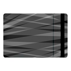 Abstract Geometric Pattern, Silver, Grey And Black Colors Apple Ipad Pro 10 5   Flip Case