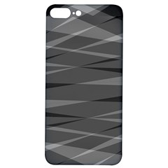 Abstract Geometric Pattern, Silver, Grey And Black Colors Iphone 7/8 Plus Soft Bumper Uv Case