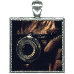 Creative Undercover Selfie Square Necklace