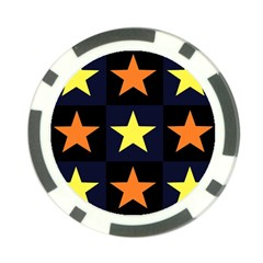 Color Stars Poker Chip Card Guard (10 Pack)