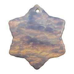 Cloudscape Photo Print Ornament (snowflake)