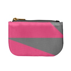 Pink And Gray Saw Mini Coin Purse