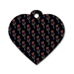 Roses Dog Tag Heart (one Side) by Sparkle