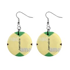 Jamaica, Jamaica  Mini Button Earrings by Janetaudreywilson