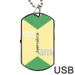 Jamaica, Jamaica  Dog Tag Usb Flash (two Sides) by Janetaudreywilson