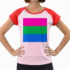 Polysexual Pride Flag Lgbtq Women s Cap Sleeve T-shirt by lgbtnation