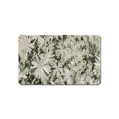 Pale Tropical Floral Print Pattern Magnet (name Card)