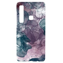 Teal And Purple Alcohol Ink Samsung A9 Black Uv Print Case by Dazzleway