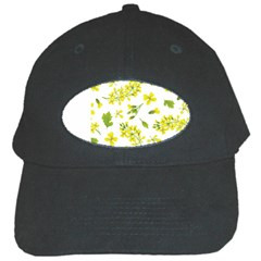 Yellow Flowers Black Cap
