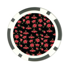 Red Roses Poker Chip Card Guard
