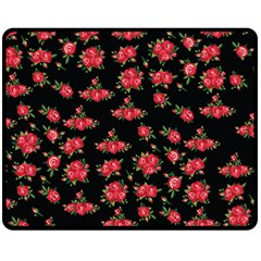 Red Roses Fleece Blanket (medium)
