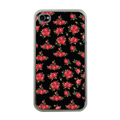 Red Roses Iphone 4 Case (clear)