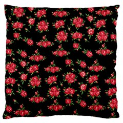 Red Roses Large Cushion Case (one Side)