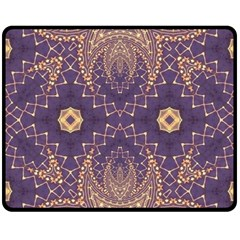 Gold And Purple Fleece Blanket (medium)