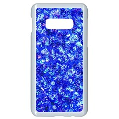 Blue Sequin Dreams Samsung Galaxy S10e Seamless Case (white) by essentialimage