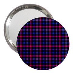 Bisexual Pride Checkered Plaid 3  Handbag Mirrors by VernenInkPride
