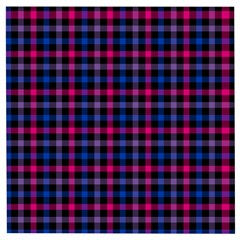 Bisexual Pride Checkered Plaid Wooden Puzzle Square by VernenInkPride